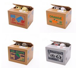 automatic coin Coupons - Piggy Bank Panda Bamboo Automatic Stole Coin Panda cat Automatic Stealing Coin Saving Money Box Piggy Bank for kids SN2622