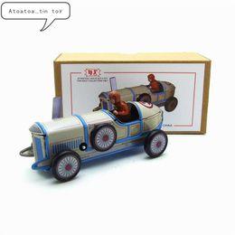 2019 enrolle carros de brinquedo Brinquedos de lata de corrida Retro vintage Clássico Clockwork Wind Up coleção carro de corrida Lata de Brinquedo Para Adultos Crianças Presente Colecionável SH190913 enrolle carros de brinquedo barato