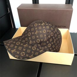 Cappuccio da golf della lettera del mens online-Fashion Design Unisex Stampa Cappellini Francia Marca Lettera Cappelli da baseball Uomo e donna Golf Snapback Cap con scatola
