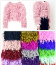 Nuovo! Commercio all'ingrosso di alta qualità 13-15 cm colorato nastro di piume di struzzo per fai da te mestieri plumes abbigliamento accessori da cappelli piume d'oca fornitori