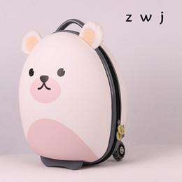 2019 18-дюймовый багаж 18 дюймов мультфильм медведь дети чемодан дети багаж EVA мультфильм тележка сумка корея малыш прокатки багажа дешево 18-дюймовый багаж