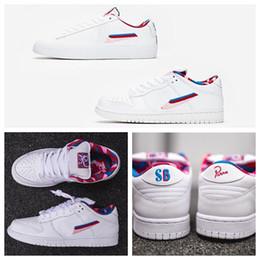 2020 x Parra Blazer para mujer para hombre SB Dunk Low GT zapatos corrientes de rosa rosa blanca 87 Diseñador entrenadores deportivos zapatillas de