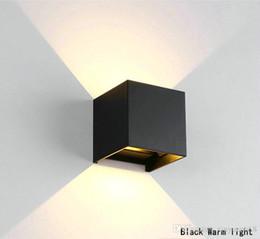 Canada 6W 12W led lampe de mur angle réglable cube moderne extérieur bâtiment intérieur décoration simple lampe de lavage de mur IP65AC85-265v Offre