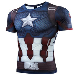 plus des vêtements à la mode Promotion Captain Marvel Avengers 4 Tee-shirt Nouveau Quantum Warfare 2019 Heroes Costumes Combat De Combat T-shirt À Manches Longues T-shirt À La Mode