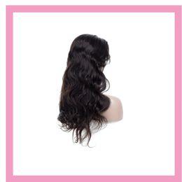 2019 parrucche di merletto di struttura viziosa Parrucca anteriore del merletto dei capelli umani peruviana 8-30inch parrucche anteriori del merletto dell'onda del corpo dei capelli del vergine colore naturale