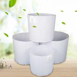fiori di verdure Sconti Non tessuto bianco piante che crescono borsa vegetale vaso di fiori contenitore fai da te giardino pot piantare casa fattoria crescere borsa