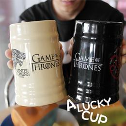 2019 tazza di caffè di drago Game Of Thrones Dragon Coffee Mug Wolf Cup Latte Tazze e tazze Regalo di compleanno Drinkware 500ml T8190627 tazza di caffè di drago economici