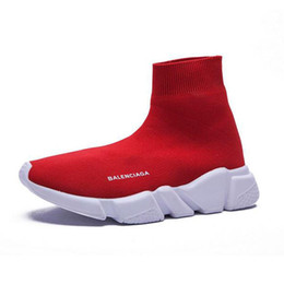 2019 mulheres famosas Homens mulheres INS balanciaga meia sapatos Paris famosos sapatos com textura branca único designer Sock Shoes tamanho 36-45 mulheres famosas barato