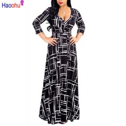 8d53f9ad0c bohemian style linen women dresses 2019 - Haoohu Plus Size Black Bohemian  Long Dress Women Autumn