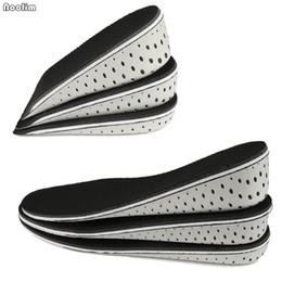 Espuma de memória palmilhas de salto alto on-line-Homens Mulheres Universal Aumento da Altura da Palmilha Palmilhas de Espuma de Memória Sapato Invisível Interior de Alta Salto Completo Meia Almofada Almofada