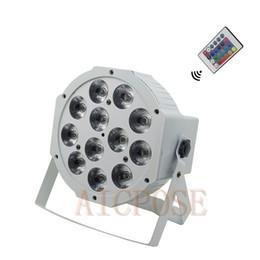 Control remoto de luz dj online-12x12w con control remoto LED blanco Par Light 12 * 12W RGBW 4 en 1 para discoteca DJ Bar Party Wedding Stage Light
