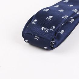 Модный галстук онлайн-Хэллоуин Галстук для Мужчин Vogue Man Шелковый Череп Велосипедный Фонарь Узкий Галстук Синий Свадебный Галстук Шея Галстук Лучшие Подарки для Мужчин