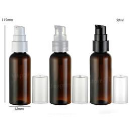 30 x 50 ml de alta calidad Amber Brown Lotion y Crenm Pet Pump Botella 50cc Envase con champú. desde fabricantes