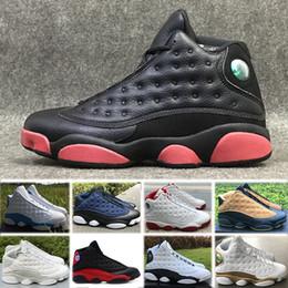 Nike Air Jordan 13 Retro basketball shoes Vente en gros pas cher 2018  Chaussures de haute qualité J13 XIII 13s Hommes Chaussures de course Femmes Bred  Noir ... d90d0550c