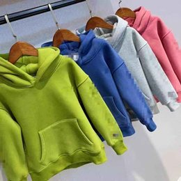 Sudaderas verdes para las niñas online-Ropa infantil Marca Winter Girls Boys Green Blue Sweatershirt Blusa Hoodies para Girls Boys Outwear