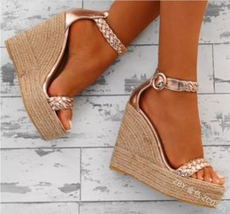 Frauen Schuhe Nett Einfarbig Plattform Weibliche Schuhe Offene Spitze Frauen Sandalen Keile Sandale Frauen Sandalen