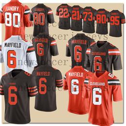 Marrones camiseta 73 online-Mayfield Cleveland 6 Baker Mayfield Jerseys marrones 80 Jarvis Landry Color Rush Denzel Ward 23 Joe Haden 95 Myles Garrett jersey 73 Joe Thomas