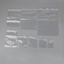 2019 saco de plástico para mistura de presentes Alta Qualidade 100 Pcs Tamanho Mix Jóias Ziplock Zip Fechado Fechado Reclosable Plástico Poli Sacos De Doces Doces Pacote SacosPouchs desconto saco de plástico para mistura de presentes
