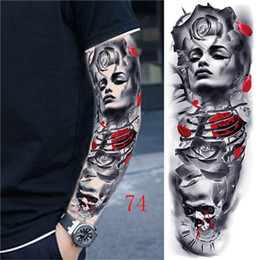 Vollarm Tattoo Applique Arm Tattoo Wasserdichte Männer Und Frauen Geisha Tattoos Einmalige Tattoo Transferdruck Aufkleber Freies Verschiffen 80
