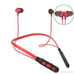 Oppo bluetooth on-line-Fones de ouvido Bluetooth Neckband Fones de ouvido sem fio Esporte estéreo Bluetooth Headset com microfone Handsfree para iPhone Xiaomi OPPO