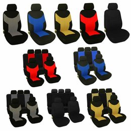 Tampas de assento universais on-line-Adeeing Universal resistente ao desgaste Car Seat Covers assento Auto Protetores Car-Styling Conjunto completo Universal Fit Acessórios Car