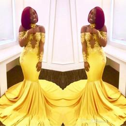 3f4b484dc8b0 vestiti eleganti lunghi gialli Sconti Eleganti abiti da ballo in pizzo al  largo della spalla 2019