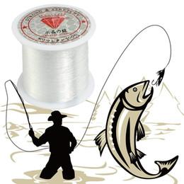 Белая нейлоновая нить онлайн-Эластичный 0.2 мм-0.8 мм Диаметр прозрачный нейлон рыба леска катушка бисероплетение строка Белый ткачество Рыбалка