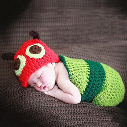 crochet baby outfits animals Promo Codes - Newborn photography props crochet animal outfit shooting baby girl boy fotografie accessories toddler beanie infant picture photo props suit