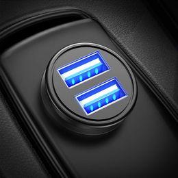 Argentina Cargador de coche, 4.8A aleación de aluminio del cargador del coche del adaptador de puerto dual del coche del USB de carga rápida Mini encajen perfectamente compatible Suministro
