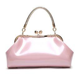 Sacos de casamento on-line-2019 moda laca bolsa com ombro único cruzando saco de noiva, saco de jantar, saco de casamento para as mulheres