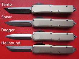couteaux de camp forgés à la main Promotion Haute qualité CNC usiné MT UTX 85 UTX85 UTX-85 Style HellHound D2 lame en alliage d'aluminium poignée EDC tactique combat couteau de poche