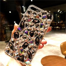 capa do rhinestone do telefone da galáxia s5 Desconto Bling encantador cristal diamantes strass 3d pedrinhas phone case capa para iphone 6 7 8 plus xs xr max para samsung galaxy s5 s8 s9