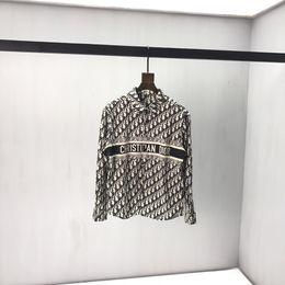 2019 camisa preta gravata branca início do Outono nova verificada encapuçado jaqueta casual camisola de algodão puro verificado camisa de harmonização Estampados Q17 corte