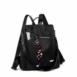 mochilas a prueba de agua con estilo Rebajas 2019 nuevas mujeres de gran capacidad simple elegante impermeable bolsa de estudiante mochila nueva antirrobo mujeres mochila de alta calidad