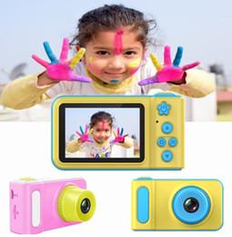 бокс в прямом эфире Скидка Новые дети Мини-камера цифровой фотоаппарат милый мультфильм кулачка 1080p малыш игрушки для детей подарок на день рождения 2-дюймовый экран камеры подарок на день рождения дюймовый экран
