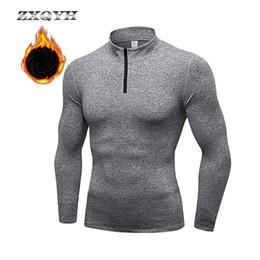 ZXQYH Winter FleeceT-shirts Langarm-Thermo-Shirts Wandern Trekking Sport Tees Laufen Fitness Gym T-Shirts Herbst Männer Shirts von Fabrikanten