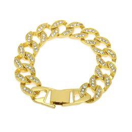 Braccialetti di Hip Hop di modo per i braccialetti del diamante Miami dei braccialetti del Rhinestone dei gioielli di Bling Bling delle donne per trasporto libero del regalo da pizzo guarisce blu fornitori