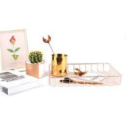 Boreal Europe style Дания с золотой отделкой, корзина из розового золота, корзина из кованого железа, настольная фруктовая отделка HK0429 от