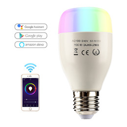 Leadleds WiFi Bombilla LED inteligente E27 7W Lámpara AC110-240V Lámpara LED regulable Bombilla Control remoto Led Spot Light Works With Alexa Google Inicio desde fabricantes