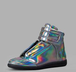 margiela tênis Desconto Alta qualidade coloridas Maison Martin Margiela High Top homem Sapatos Flats Walking sapatos masculinos MMM Formadores Kanye West calçados casuais 38-46