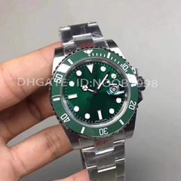 Relógio de mergulho eta cerâmica preta on-line-Top de relógio de homem de luxo V8 904L 116610LN ETA 2836 relógio mecânico automático moldura de cerâmica preta relógio de mergulho luminoso