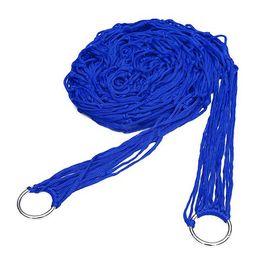 oscillazioni blu Sconti Amaca in nylon blu appesa alla rete da campeggio