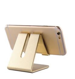 Wholesale 100pcs alluminio universale metallo telefono cellulare tablet scrivania titolare antiscivolo titolari del telefono cellulare tavolo da tavolo stand supporto della culla per il telefono cellulare