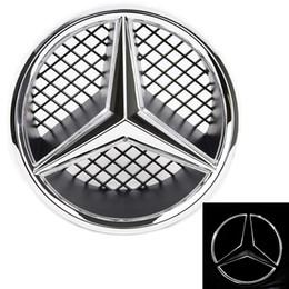 2019 plaque de seuil de porte nissan LED emblème pour Mercedes Benz 2005-2013 avant voiture Grille épinglette, logo lumineux capot étoile DRL, lumière blanche - Lecteur Brighter