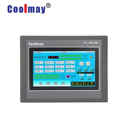 Controlador de plc online-Clásico controlador inteligente programable de 4,3 '' plc con panel táctil hmi integrado MX2N-43HB-24MT