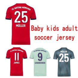 93393dde71 Kids designer clothes 18 19 Bayern Munich Soccer Jerseys baby Football  jersey Boy girl adult Maillot De Foot JAMES ROBBEN RIBERY BOATENG