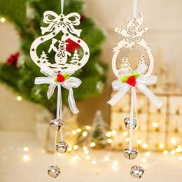 fitas para decorações de árvore de natal Desconto Enfeite De natal Coração Anjo Bell Decoração Pingente De Madeira Criativa Árvore De Natal Decoração Tag Fita