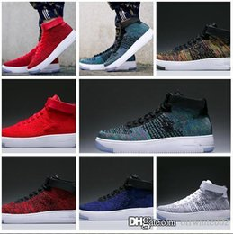 hot sale online a2082 78f82 Moda Uomo Scarpe Low One 1 Uomo Donna Force Cina Scarpe Casual Fly Design  Royaums Tipo Breathe Skate knit Femme Homme 36-45