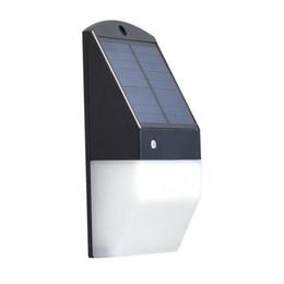 Теплые солнечные фонари онлайн-Солнечный свет стены 25 LED солнечный свет сада Заборчик декоративный Radar датчик движения Свет теплый белый Солнечные Fence огни