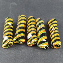 прокат бумаги для курения Скидка Цветные плоские рулонные стеклянные фильтры Советы для курящих стеклянных наконечников для рта Легко очищаются